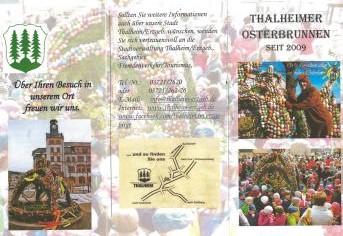 Info Flyer zum Thalheimer Osterbrunnen 2015