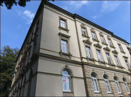 Ein Teil der Neukirchner Villa von aussen