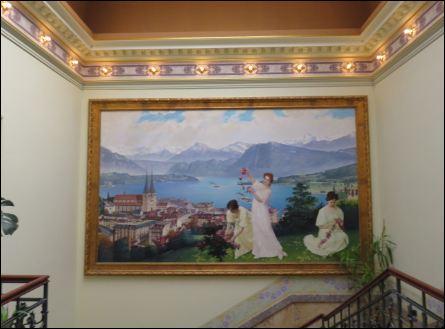Gemälde im Treppenhaus der Neukirchner Villa